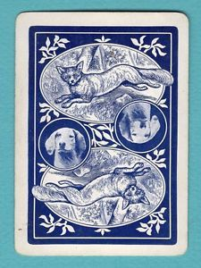 1 Single Swap Playing Card Antique Wide Funning FOX Hunt DOG Reversable OLD Rare | eBay