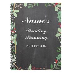 #personalize - #Rustic Notebook Wedding Planning Chalk Notes