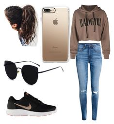 """Cuestión de tallas"" by ines-pereira-alonso on Polyvore featuring moda, H&M, NIKE y Casetify"