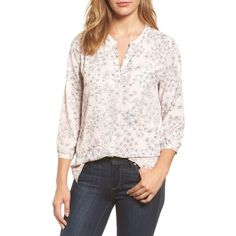 Petite Women's Nydj Pleat Back Blouse ($88) ❤ liked on Polyvore featuring tops, blouses, minimal etching, petite, nydj blouses, pintuck top, petite tops, nydj and pleated back blouse