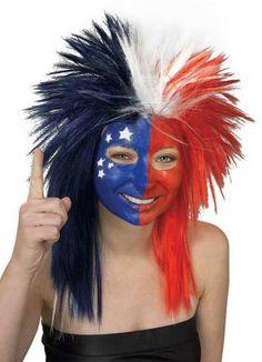USA Patriotic Red White & Blue Wig $9.92 #AmericanFlag #USA #Wigs #Patriotic http://www.halloweencostumes4u.com/prods/rub51392.html
