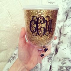 all that glitters is gold wine tumbler