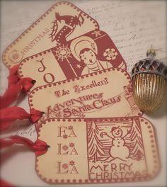 Swedish Folk Christmas tags