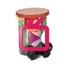 Kartell Gnome Akzent Hocker | Perigold Kartell, Gnomes, Stool, Furniture, Home Decor, Log Projects, Decoration Home, Room Decor, Home Furnishings