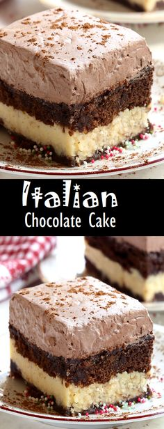 A combination of chocolate marble cake and cheesecake with a creamy chocolate topping this Italian Chocolate Cake is an absolute must try Desserts Italian Chocolate Cake Italian Chocolate Cake Recipe, Chocolate Marble Cake, Chocolate Topping, Chocolate Recipes, Chocolate Pudding, Chocolate Chips, Chocolate Sheet Cakes, Chocolate Cheescake, Chocolate Chip Pound Cake