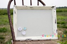 Magnetic Board by craftychickshop on Etsy, $40.00