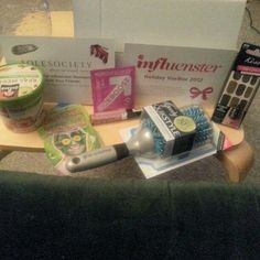 Products I received for free in my Influenster Holiday Vobox 2012. I absolutely loved them all!!! Thanks Influenster :D