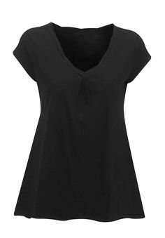 Plus Size V-neck Tee in cotton jersey knit