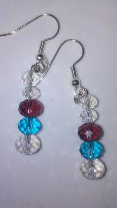 Orbit Crystal drop earrings by EisbrenacDesigns on Etsy