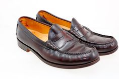 John A Frye Company Leather Cordovan Penny Loafer Men's U.S. 10.5 D #Frye…