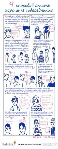 ИНФОГРАФИКА: Как стать приятным собеседником