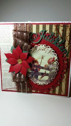 Christmas card Christmas Wreaths, Christmas Cards, Handmade Christmas, Advent Calendar, Holiday Decor, Frame, Home Decor, Christmas E Cards, Picture Frame