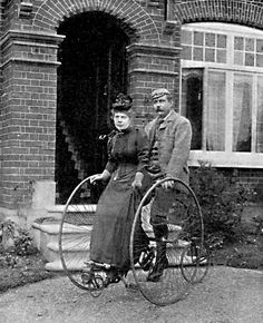 "A rare picture of Sir Arthur Conan Doyle and his wife. This one appeared in the Strand Magazine in 1892 as part of an article called ""A Day With Dr. Conan Doyle."""