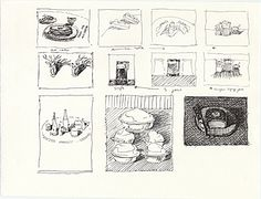 Citation: Hot Cakes, Banana Splits, Deer Heads, ca. 1990 . Wayne Thiebaud papers, Archives of American Art, Smithsonian Institution.