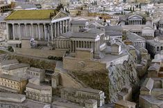 Model of the Capitolium or Capitoline Hill of Ancient Rome