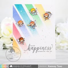 Mama Elephant Stamp Highlight: Little Fairy Agenda (Kiwi Koncepts) Mama Elephant Stamps, Rainbow Theme, Interactive Cards, Spring Projects, Elephant Design, Cute Cards, Pretty Cards, Kids Cards, Baby Cards