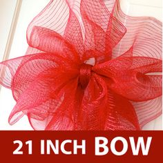 Deco Mesh Bow Tutorial with 21