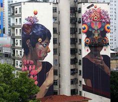 street art Gleo  in São Paulo, Brazil