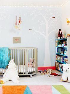 Beautiful nursery courtesy of Jessica Alba includes Stokke crib Project Nursery, Nursery Decor, Room Decor, Nursery Ideas, Modern Baby Cribs, Celebrity Nurseries, Kids Room, Child Room, Baby Equipment
