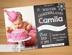 Winter Onederland Invitation / Printable von MyPrintableInvite