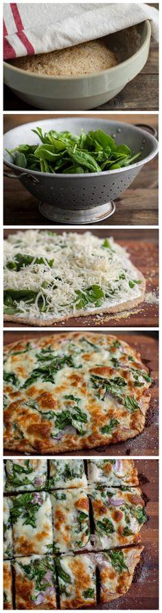 Spinach Ranch Pizza ~ toprecipeblog