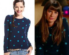 Use the code 'SUPER' for an extra 20% off! Macy's Charter Club Long-Sleeve Polka-Dot Cashmere Sweater - $94.99(on sale!) Also worn in: 5x01 'Love, Love, Love' (deleted scene)