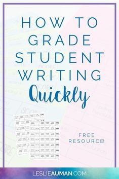 Writing Rubric | Student Writing | Grading Writing | Grading student writing has never been an enjoyable endeavor. However, in this post, I take the time to explain an idea I had to make it become a faster and easier process - plus, there's a freebie included! Click through to read the post and snag your free download.