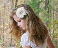 Bridal Hair Flower Wedding Headpiece Hair by FancieStrands on Etsy, $42.00