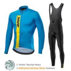Mavic Winter Cycling Set Thermal Fleece Cycling Clothing Pro Team Bike  Downhill Jersey Skinsuit MTB Clothes c639648cb