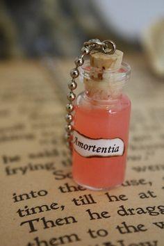Love Potion - bottiglia di vetro collana - incantesimo bottiglia - flacone