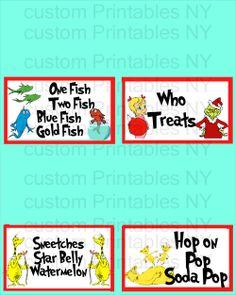 DIY Dr Seuss Printables for birthdays etc on Pinterest ...