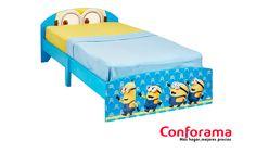 Kevin, Stuart, Bob y sus compañeros se lanzan ahora a la conquista de la habitación de los peques de la casa mediante esta cama MINIONS 👀, con la que incluso irse a dormir será un momento divertido del día. ¡A tus hijos le encantará! 👦👧