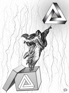 un dios liberado de su prisión vuela hacia el triángulo de moebius. a god released from his prison flies to the triangle of moebius. FLIP TSHIRTS https://es.pinterest.com/fabianavila/flip-portable-designs/ ver modelos: https://www.facebook.com/1377842905811334/photos/ms.c.eJw9zcsNwDAIA9CNKhuICfsv1iqkXJ~;8YebCsgrLpSp~;eEFCwS0G~_GVcsoHqBC840ICBOEAN7IZ~;w9kVToV2AHsgz63rBViVIgk~-.bps.a.1775052642757023.1073741847.1377842905811334/1775052942756993/?type=3