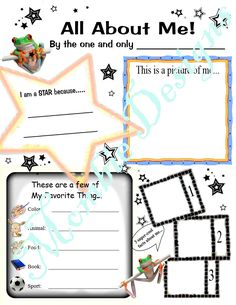 """Kid Questionnaire About Me """"KIDS LOVE These"""" reception room activity page Print & Mail All About Them get acquainted group class school - pinned by pin4etsy.com"""