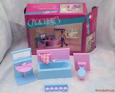 BOXED CAROLINES HOME /LUNDBY DOLLS HOUSE BATHROOM FURNITURE - FREE UK P & P | eBay
