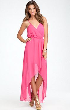 High Low Crossover Front Maxi Dress. Click to shop!