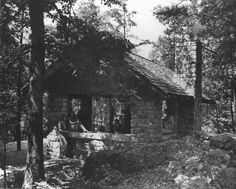 The rock house in the Cherokee National Forest near Benton, Tennessee. 1941