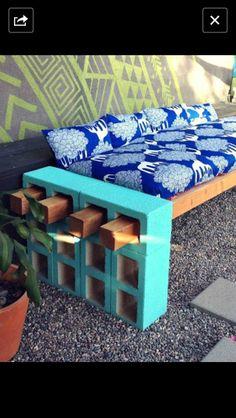 Backyard DIY bench