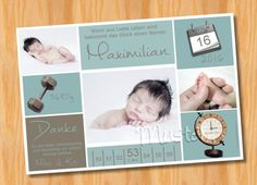 Danksagungskarten Geburt