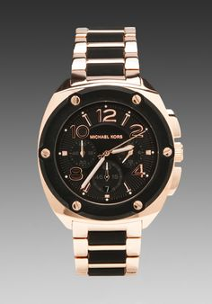 <3 <3 Michael Kors Tribeca Chronograph Watch in Black/Rosegold CLASSIC WATCH, LOOKS GOOD WITH EVERYTHING AND ALWAYS HAS PEOPLE ASKING WHERE I GOT IT FROM