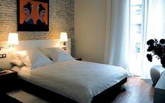 Steinwand Schlafzimmer
