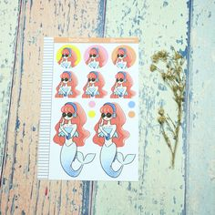 Millenial Mermaid Just Dollz Sticker Set Trending On Pinterest, Craft Business, Sell On Etsy, Paper Dolls, Fun Crafts, Free Printables, Etsy Seller, Best Gifts, Anniversary