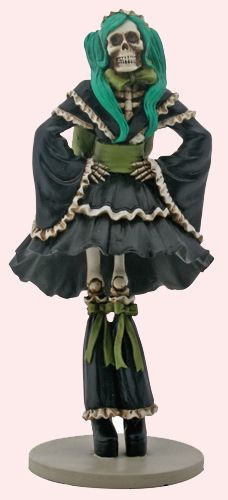 Day of the Dead Gifts - Collectible Day of the Dead J-pop Girl Desktop Figurine $29.85