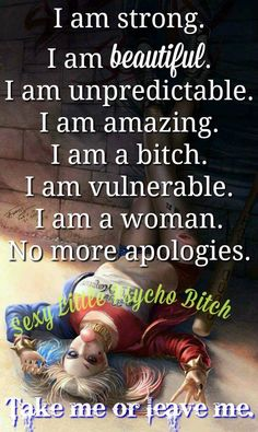 No more apologies