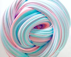 Cotton Candy Slime - Fluffy Pink and Blue Slime, birthday gift, gifts for kids, holiday present