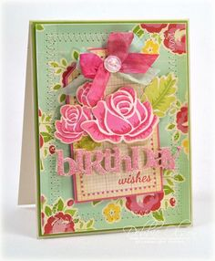 Birthday Wish Bouquet Card by Debbie Olson for Papertrey Ink (March 2013)