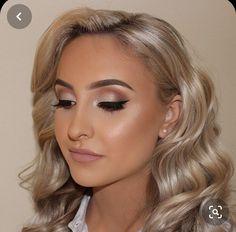 Makeup Hooded Eyes, Blue Eye Makeup, Glam Makeup, Makeup Tips, Makeup Ideas, Makeup Products, Black Dress Makeup, Bridal Makeup Looks, Bridal Hair And Makeup