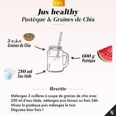 Découvrez notre recette de jus à la pastèque et aux graines de chia pour un encas nourrissant, rafraichissant et bon pour le moral. Voici la recette ultra simple de ce jus healthy !