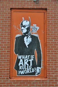 BatBond in the Mtl-Que Canada Art Rules, Batman, Superhero, Artist, Peaches, Montreal, Fictional Characters, Dan, Canada
