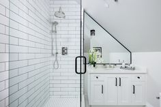 Bathroom designed by Madeleine Design Group in Vancouver's West End neighbourhood. *Re-pin to your inspiration board*